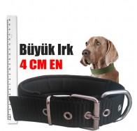 Büyük ırklar için köpek boyun tasması Siyah 42-56 CM