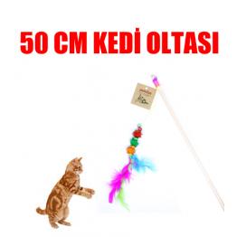 Kedi Oltası 50 Cm (ponponlu,tüylü,zilli)