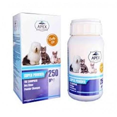 Apex Kedi ve Köpekler için Kuru Toz Şampuan 250 Gr