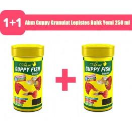 Ahm Guppy Granulat Lepistes Balık Yemi 250 ml 2 adet