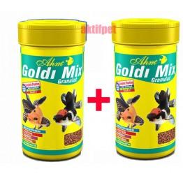 Ahm Goldi Mix Granulat Japon Balığı Yemi 250 ml 2 Adet