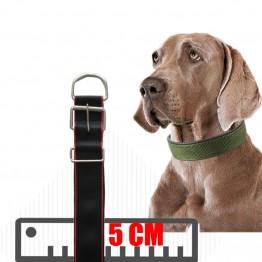 Yumuşak Dokulu Büyük  Köpek Boyun Tasması Siyah Kırmızı Uzun