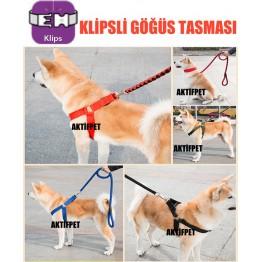 Büyük Irk Klipsli Köpek Göğüs Tasmasi No:1