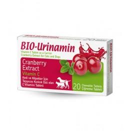 Pet Active Bio Urinamin idrar Yolu Sağlığı İçin C Vitamini Tableti (20 Adet)