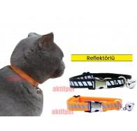 Petviya Reflektörlü, Ayarlanabilir ve Zilli Kedi Boyun Tasması