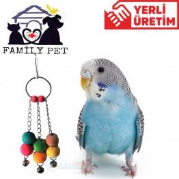 Familypet  Muhabbet Kuşları için İki Toplu Sarkaç