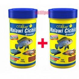 Ahm Malawi Cichlid Granulat Etçil Balık Yemi 250 ml 2 adet