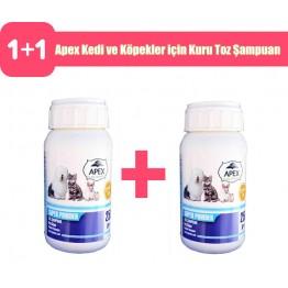 Apex Kedi ve Köpekler için Kuru Toz Şampuan 250 Gr 2 adet