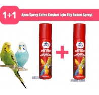 Apex Sprey Kafes Kuşları  için Tüy Bakım Spreyi 2 Adet