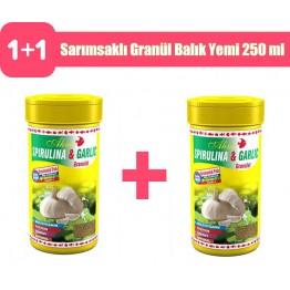 Ahm Spirulina Sarımsaklı Granül Balık Yemi 250 ml 2 adet