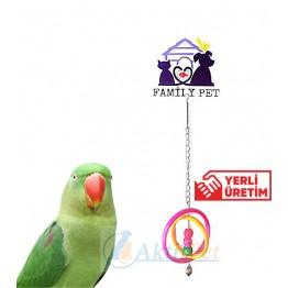 Familypet Kuşlar için İkili Halka Sarkaç