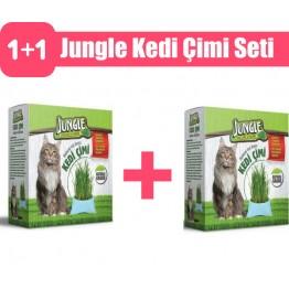 Jungle Kedi Çimi Seti 2 adet