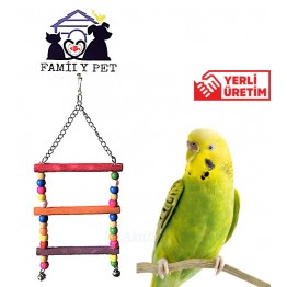 Familypet Kuşlar için Renkli Merdiven