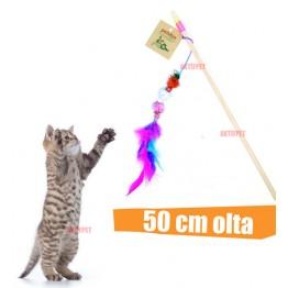 Petviya Zilli,Ponponlu ve Tüylü Kedi Oltası 50 Cm