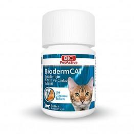 Pet Active Bioderm Kedi Deri Ve Tüy Sağlığı Koruyucu Tablet  30gr 100 Tablet