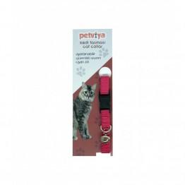 Petviya Ayarlanabilir Zilli Kedi Boyun Tasması Pembe